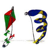 magnetic snake and kite